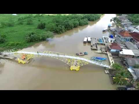 Jembatan Apung Cilacap Desa Klaces Kecamatan Kampung Laut Kabupaten Jawa
