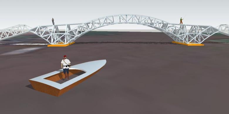Jembatan Apung Pertama Indonesia Dibangun Cilacap Kompas Kampung Laut Kab