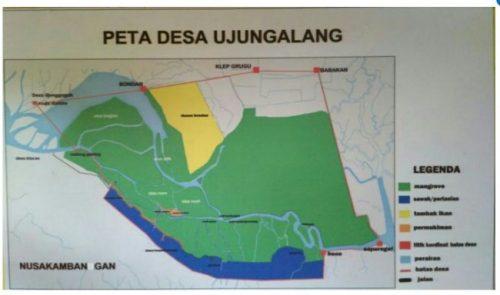 Mengenal Desa Ujung Alang Perairan Kampung Laut Cilacap Peta Hari