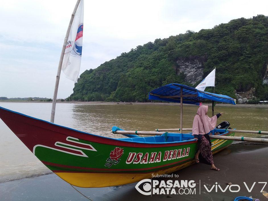 Menikmati Keindahan Pantai Sodong Perahu Motor Transportasiumum Pasangmata Kab Cilacap