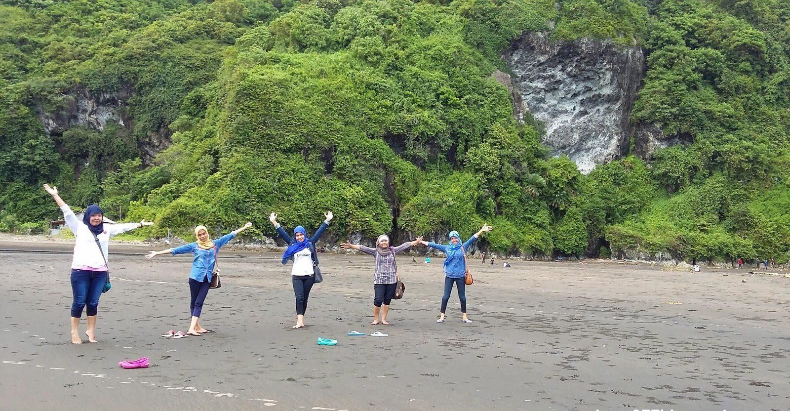 Obyek Wisata Pantai Sodong Cilacap Jawa Tengah Kab