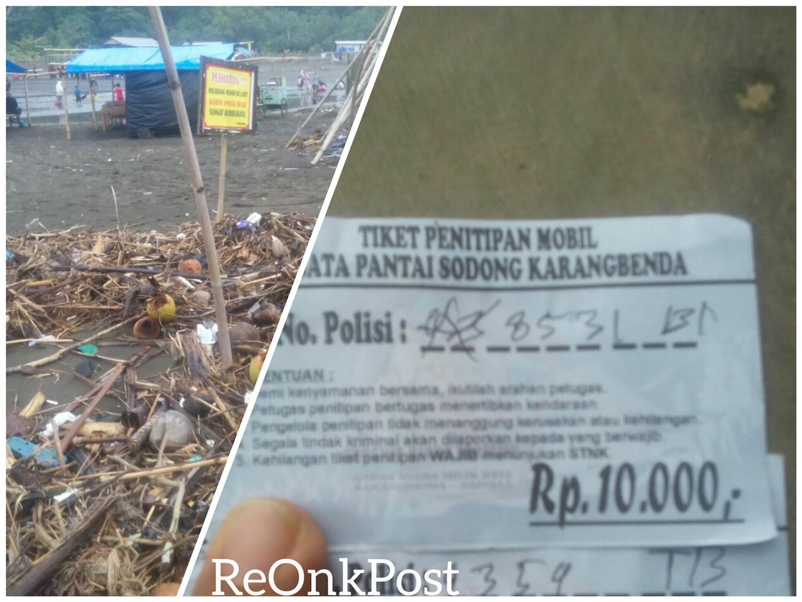 Soal Tiket Sampah Pantai Sodong Kembali Jadi Viral Kab Cilacap