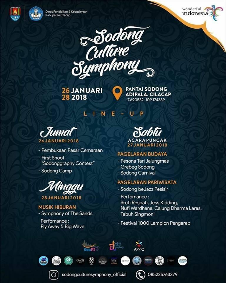 Sodong Culture Symphony 2018 Perpaduan Keindahan Pantai Budaya Cilacap Kab