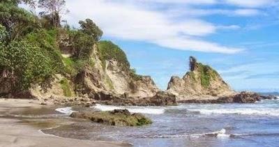 Obyek Wisata Pantai Teluk Penyu Cilacap Jawa Tengah Tempat Indonesia