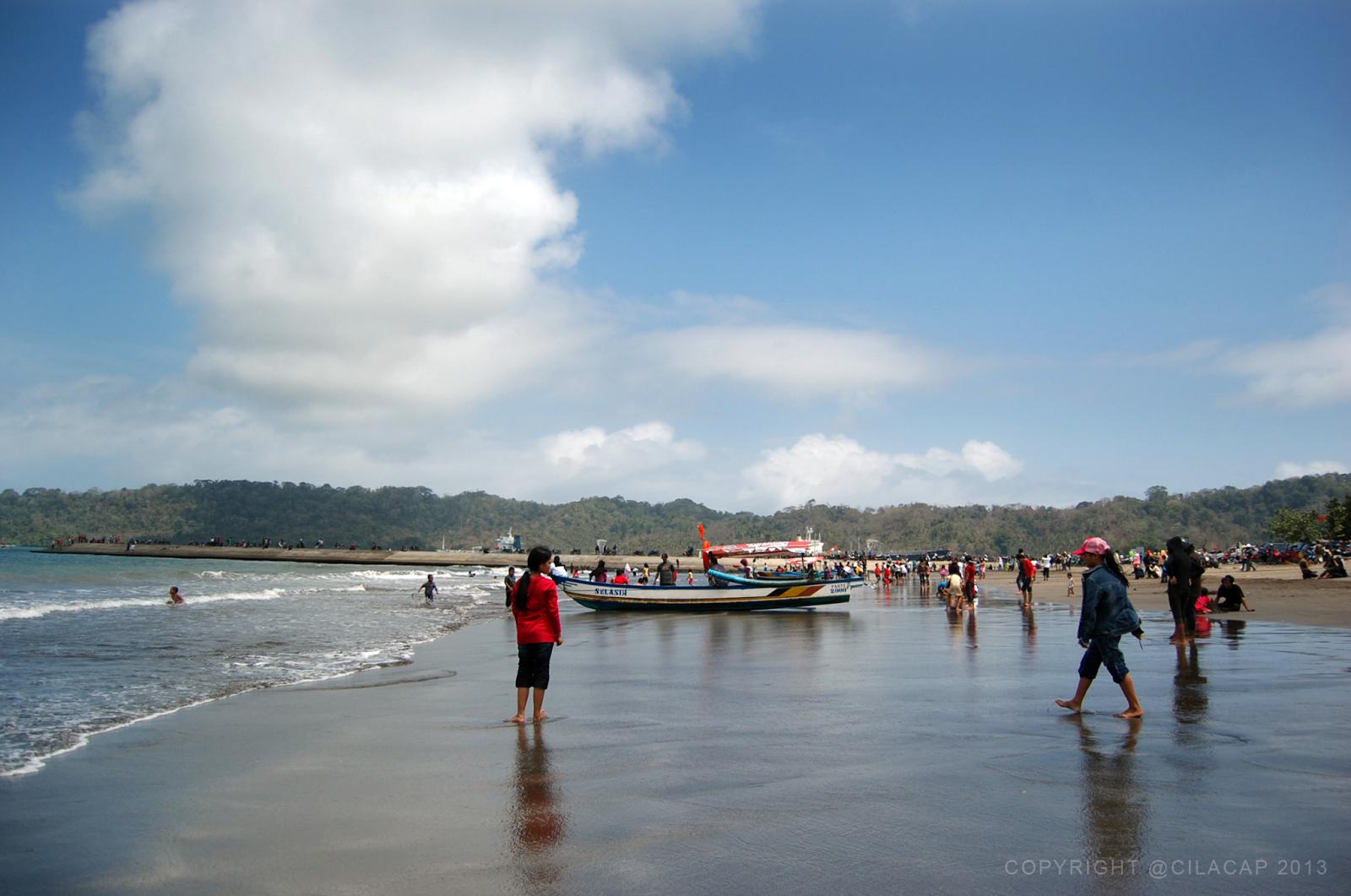 Pantai Teluk Penyu Ayo Wisata Cilacap Kawasan Membujur Utara Pelabuhan