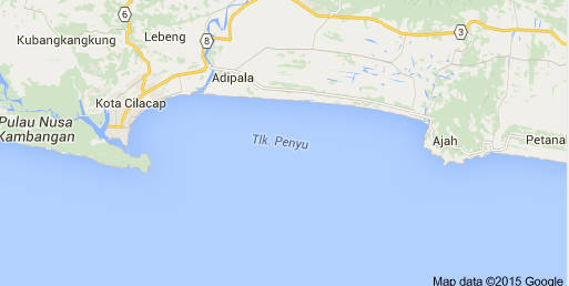 Peta Lokasi Wisata Teluk Penyu Gambar Kabupaten Cilacap Lengkap Kab
