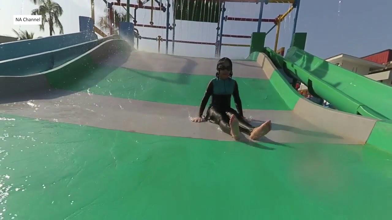 Kolam Renang Tirta Cilacap Jawa Tengah Youtube Waterpark Mas Kab