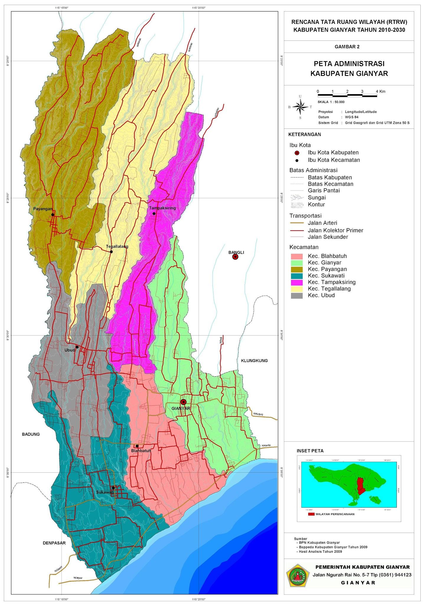 Peta Kota Kabupaten Gianyar Bali Bird Park Kab
