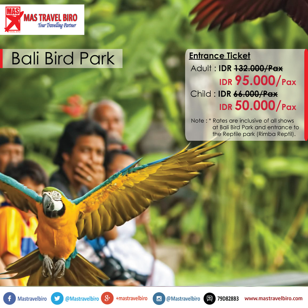 Tiket Bali Bird Park Rp 95 000 Dewasa 50 Anak