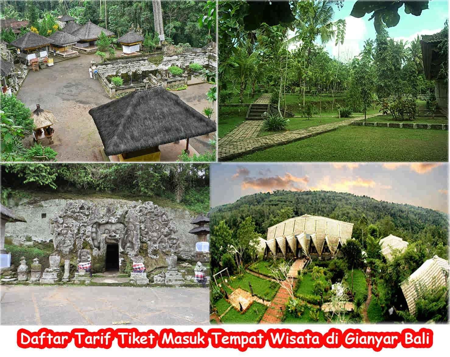 Daftar Tiket Masuk Objek Wisata Gianyar Bali Tempat Kabupaten Letaknya