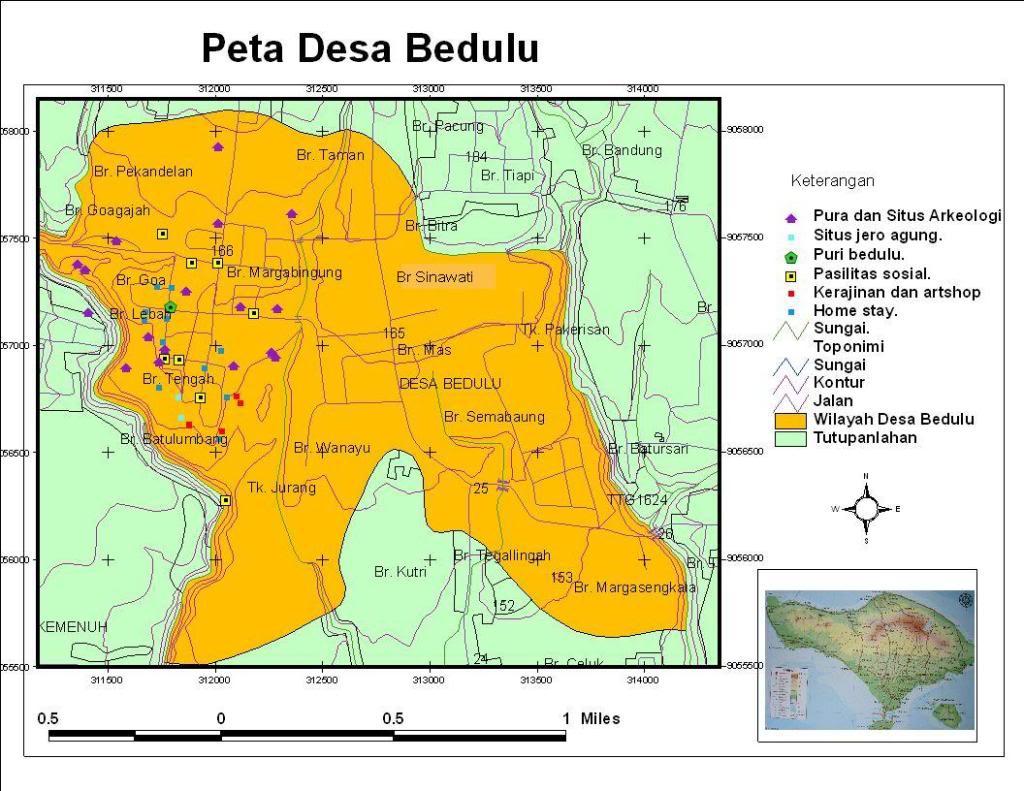 Desa Wisata Dewi Bedulu Bali Forgotten Goa Gajah Peta Gianyar