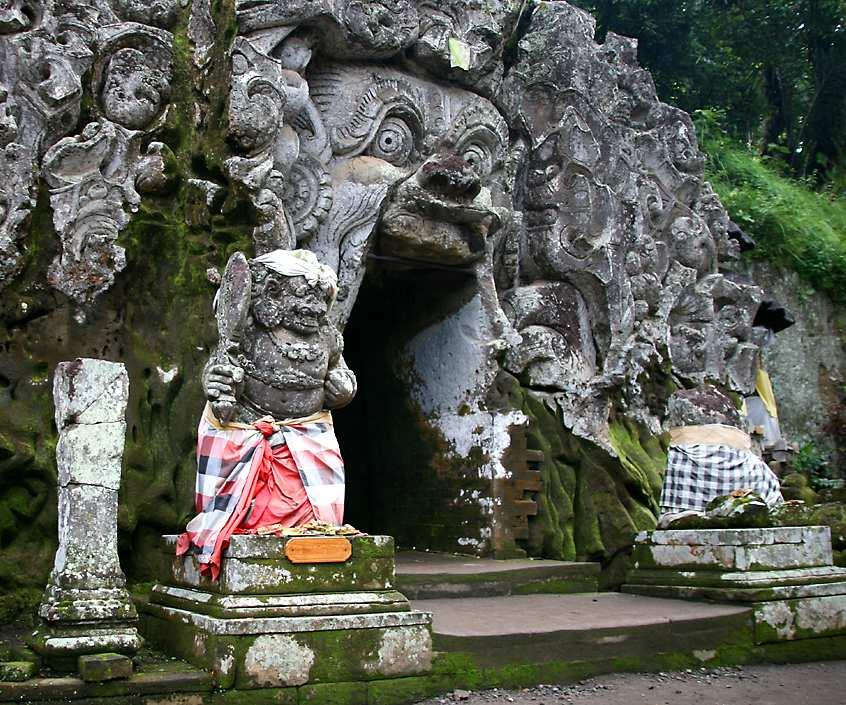 Pura Goa Gajah Elephant Cave Temple Ilmu Pariwisata Terletak Desa