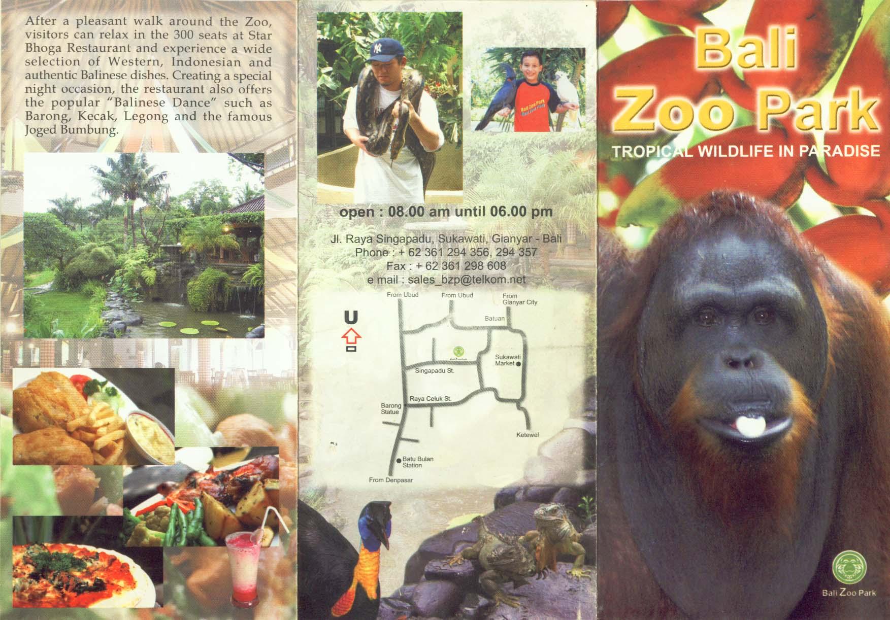 Kebun Binatang Bali Zoo Park Desa Singapadu Gianyar Tripguidebali Kab