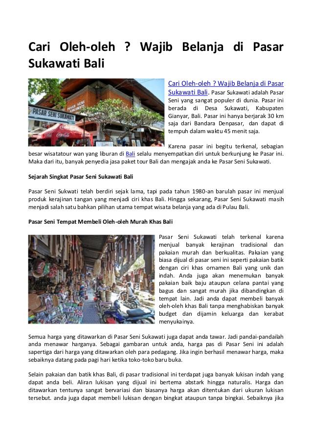 Cari Oleh Pasar Sukawati Bali Wajib Belanja Kab Gianyar