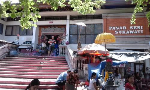 Objek Wisata Pasar Seni Sukawati Kabupaten Gianyar Bali Mentari Kab
