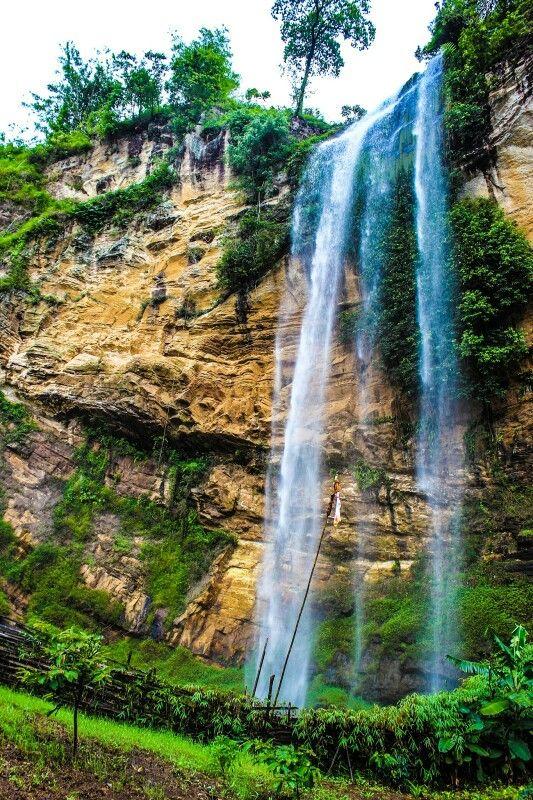 Air Terjun Gunung Nyawe Desa Perigi Kabupaten Lahat Sumatera Selatan