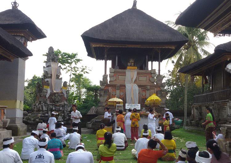 Desa Pejeng Tampak Siring Gianyar Bali Persembahyangan Pura Penataran Sasih