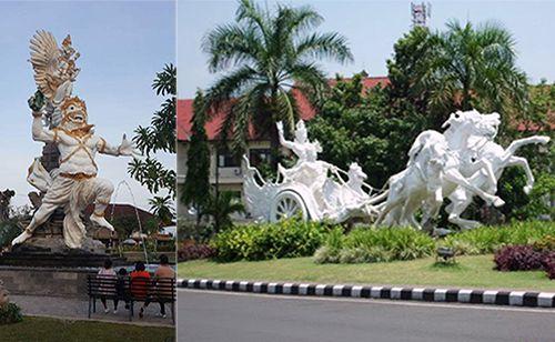 Kabupaten Gianyar Bali Indonesia Pura Puseh Desa Batuan Kab