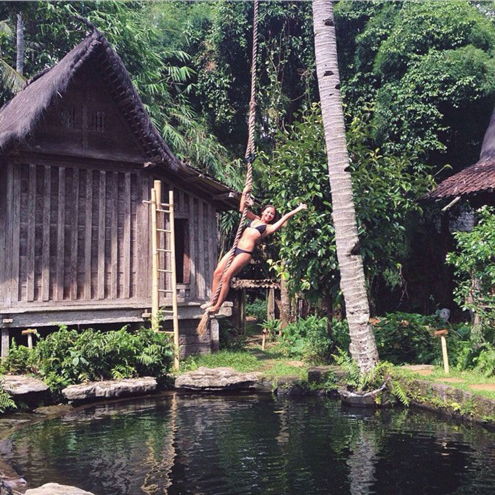 20 Amazing Ubud Didn King Jungle Tarzan Rope Swing Plunging