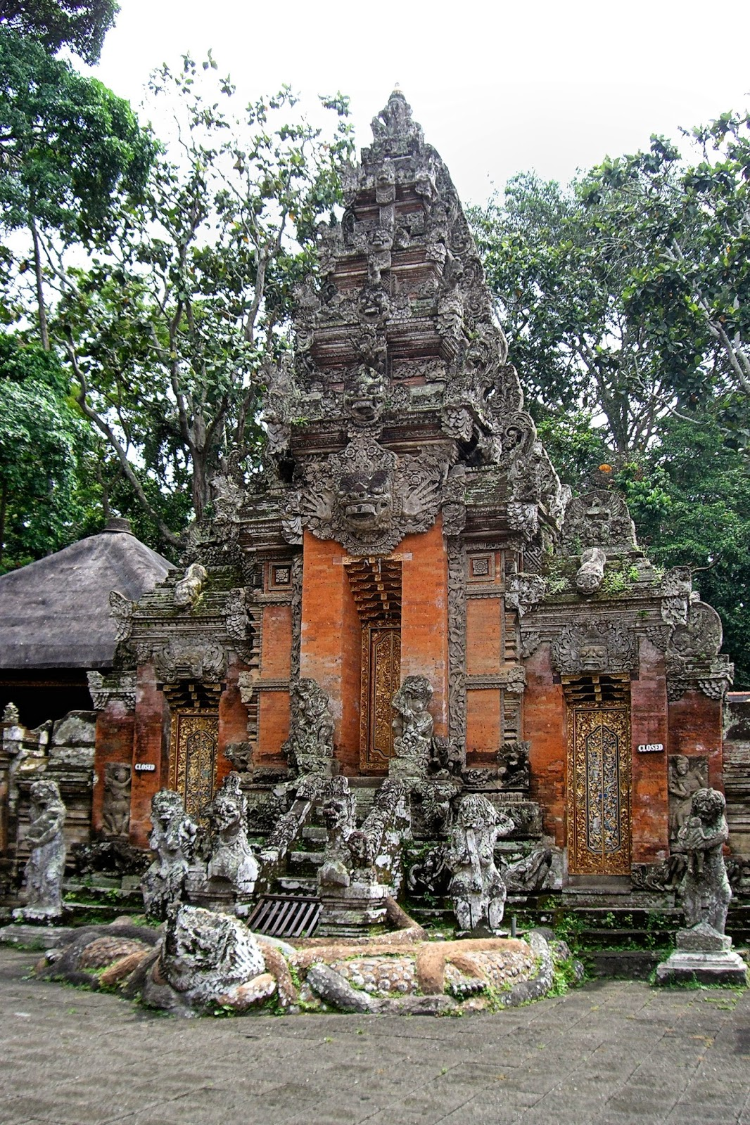 Enchanting Se Asia Bali Indonesia Part Ubud Cultural Gate Pura