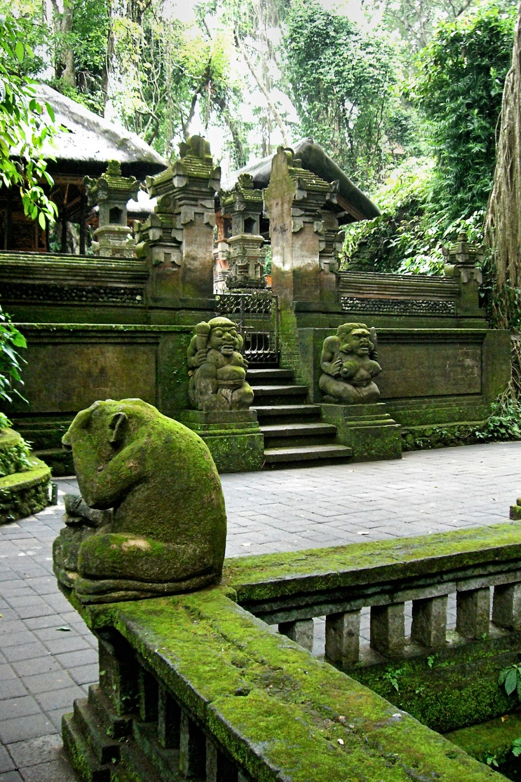 Enchanting Se Asia Bali Indonesia Part Ubud Cultural Statue Long