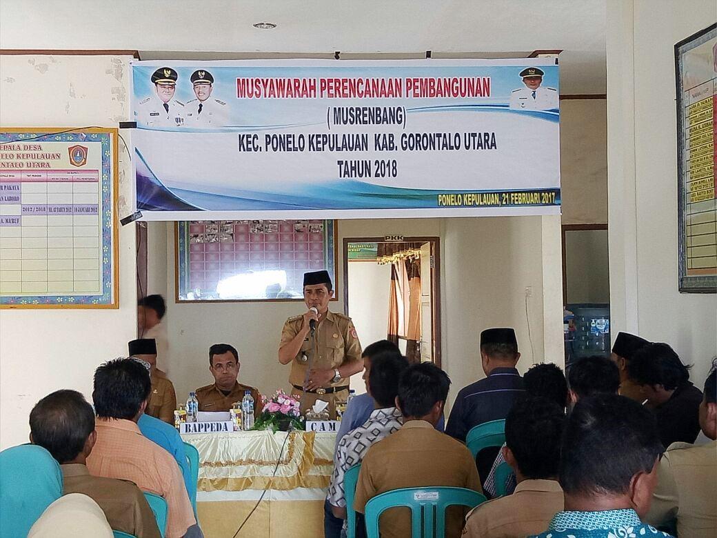 Ponelo Kepulauan Setelah Dilaksanakan Secara Kontinyu Diseluruh Kecamatan Bappeda Kabupaten