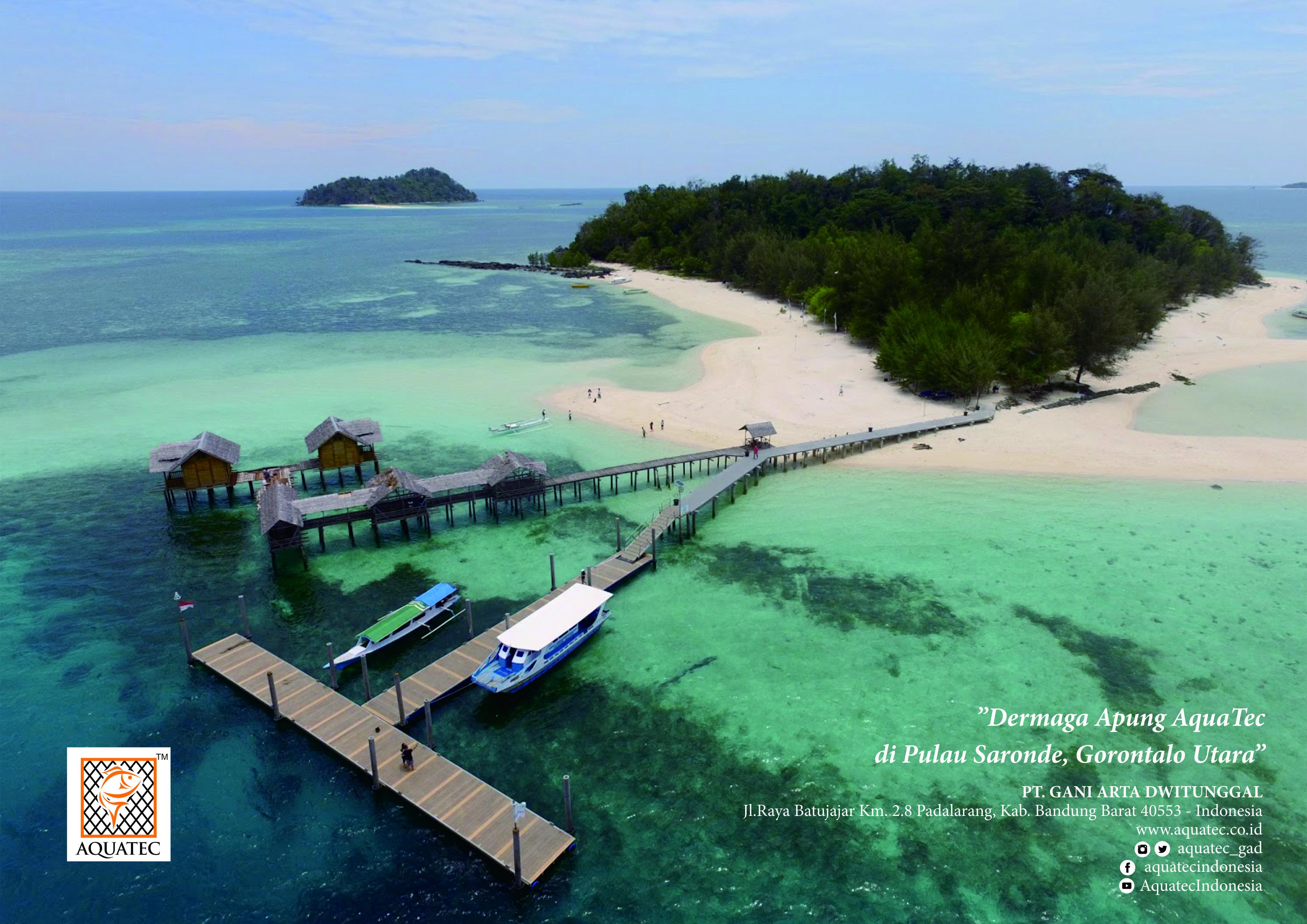 Pesona Dermaga Apung Aquatec Pulau Saronde Gorontalo Utara Kab