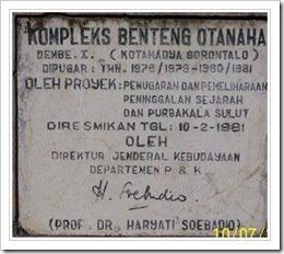 Catatan Tentang Benteng Otanaha Kab Gorontalo