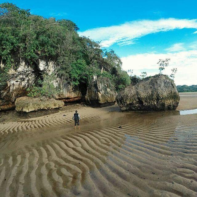 Menghadirkan Suasana Alam Berbeda Hamparan Pasir Putih Luas Mendampingi Beningnya