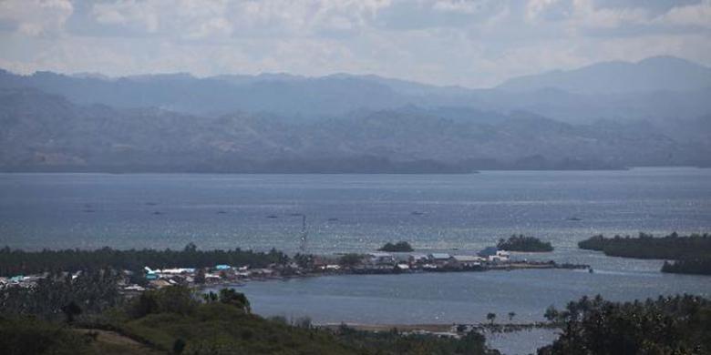 Eloknya Senja Teluk Tomini Kompas Keindahan Panorama Dilihat Kecamatan Pinogaluman