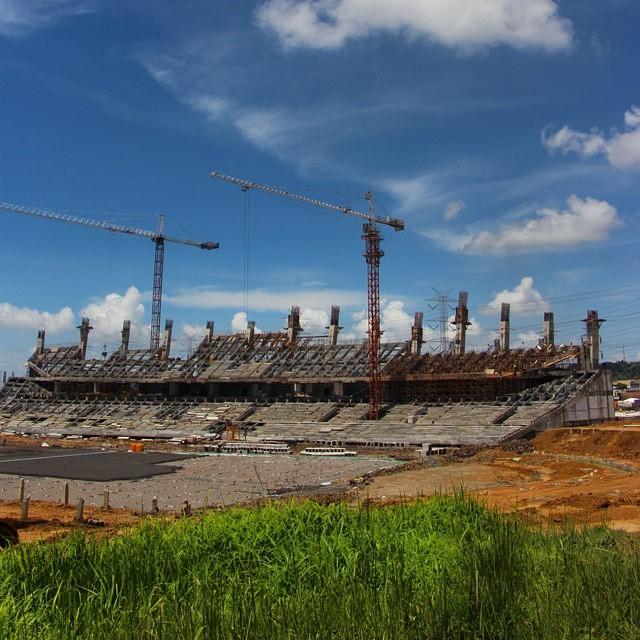 Bappeda Kabupaten Gresik Bendung Gerak Sembayat Stadion Tampak Depan Pembangunan
