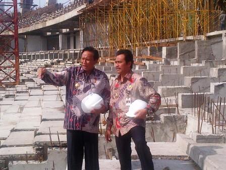 Pemerintah Kabupaten Gresik Ambari Qosim Pantau Progres Stadion Lengis Bendung