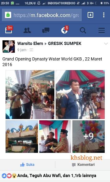 Peresmian Dynasty Water World Gkb Gresik Tanggal 22 Maret 2016