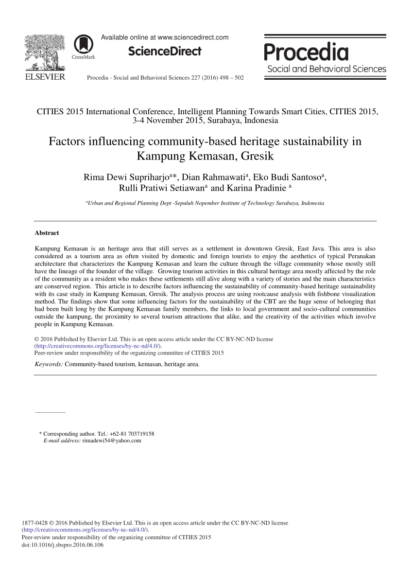Factors Influencing Community Based Pdf Download Kampung Kemasan Gresik Kab