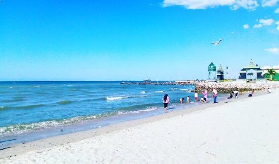 Aktivitas Asyik Jalan Menuju Pantai Delegan Gresik Pasir Putih Dalegan