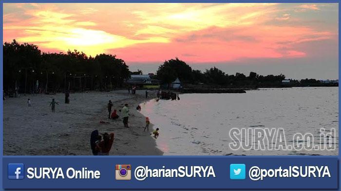 Menikmati Sunset Pantai Delegan Gresik Pengunjung Pemandangannya Bagus Dalegan Kab