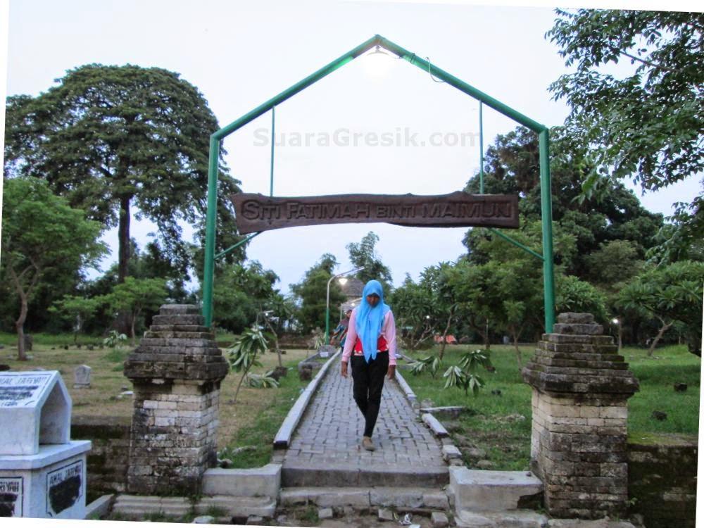 Makam Siti Fatimah Binti Maimun Suara Gresik Desa Tersebut Terletak