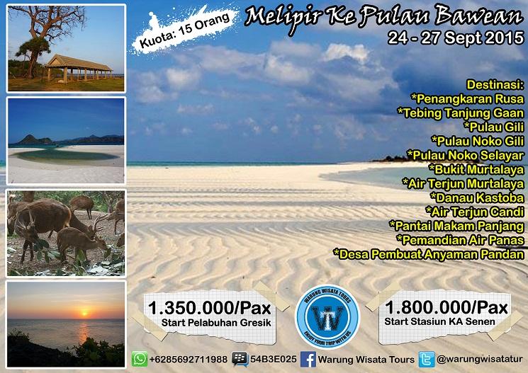 Open Trip Melipir Pulau Bawean 4d 3n Tgl 24 27