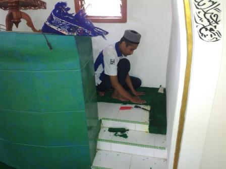 Karpet Masjid Darul Falah Kec Gunungsuka Pulau Bawean Kab Gresik