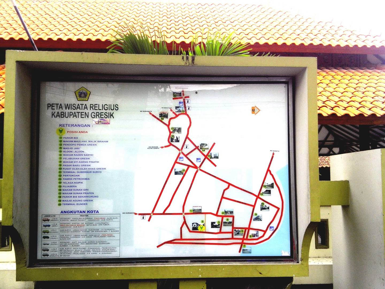 Peta Wisata Religi Kote Gresik Syeh Maulana Malik Ibrahim Sunan
