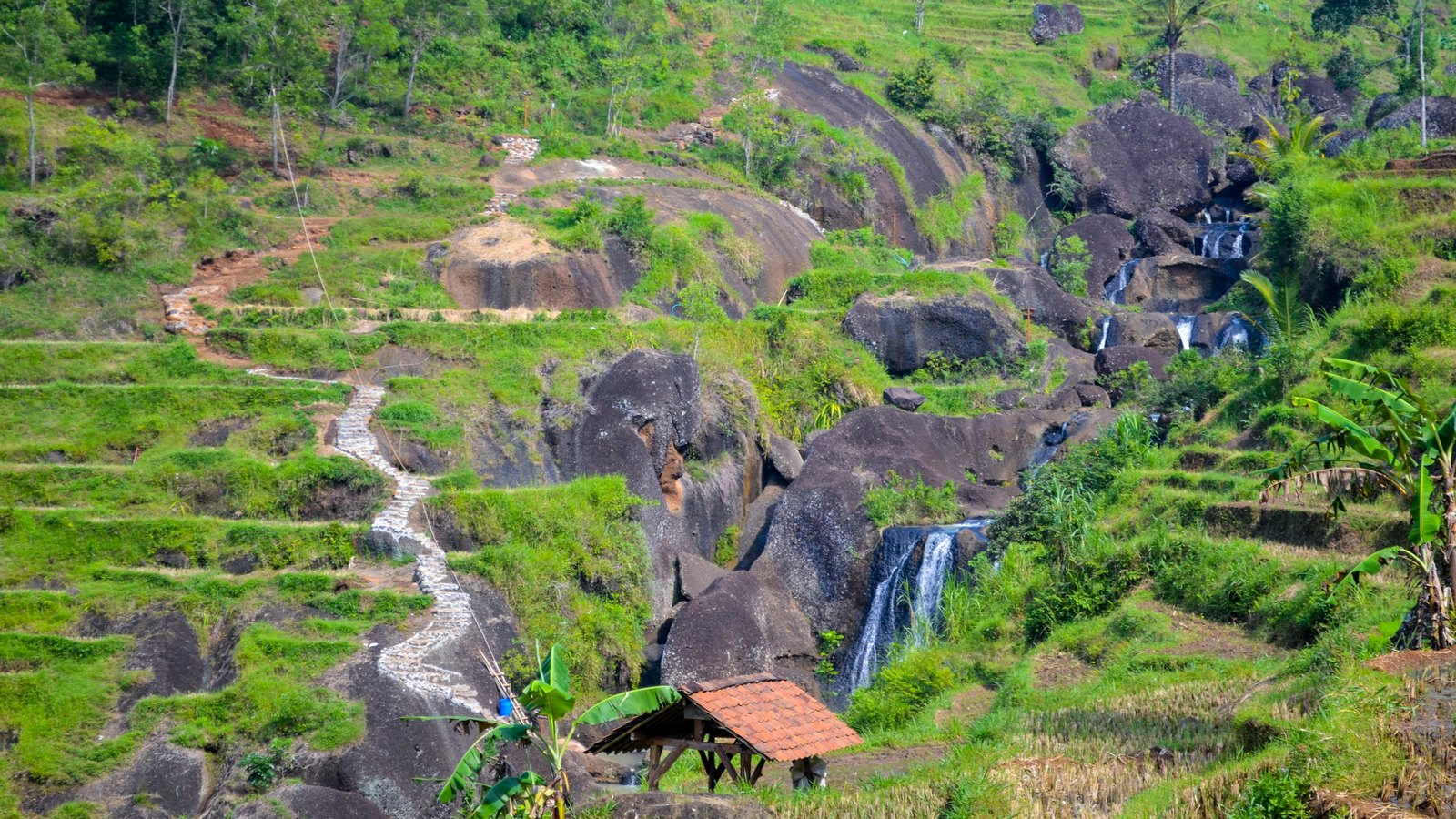 Jalan Air Terjun Kedung Kandang Gunungkidul Jogja Yuk Kab