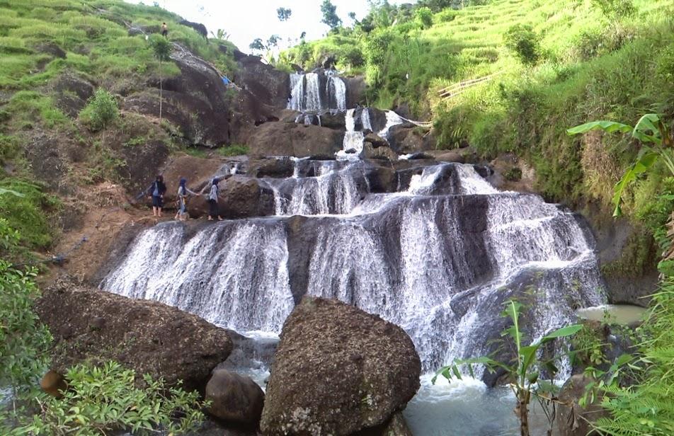 Kedung Kandang Waterfall Unique Cascade Waterfalls Gunung Kidul Jogja Air