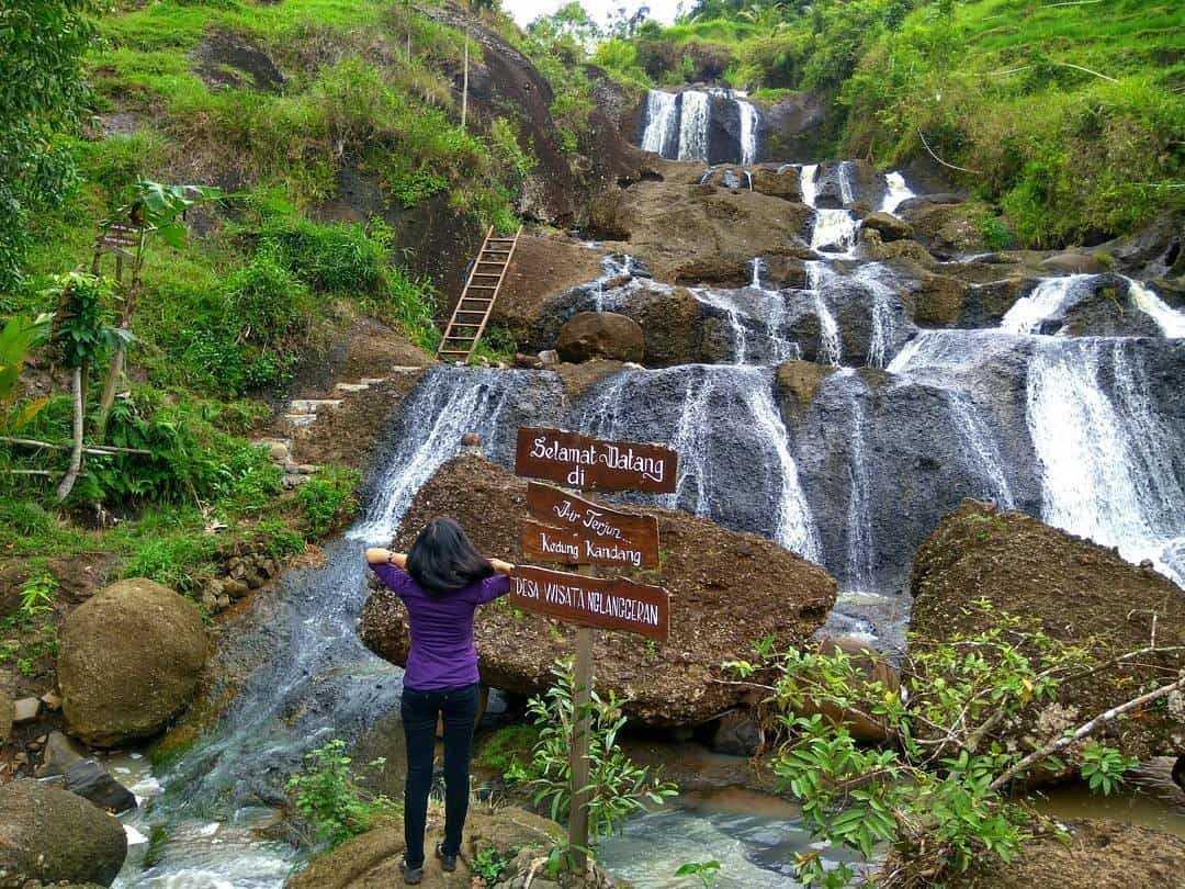 Keindahan Wisata Air Terjun Kedung Kandang Menarik Wisatawan Kab Gunungkidul