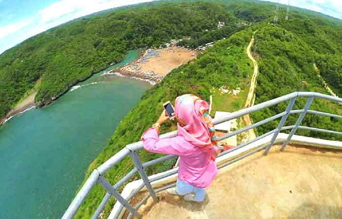 Pantai Baron Yogyakarta Fasilitas Harga Tiket Rute Map Mercusuar Gunungkidulku
