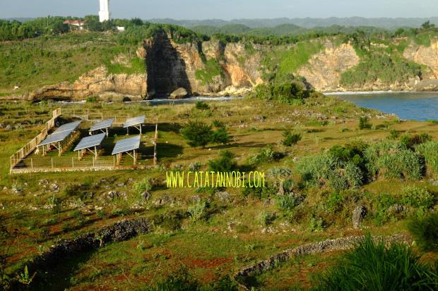 Sejenak Menikmati Senja Baron Techno Park Gunungkidul Solar Cell Technopark