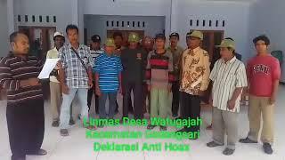 Gedangsari Buzzenjoy Linmas Desa Watugajah Kecamatan Kabupaten Gunungkidul Deklarasi Anti