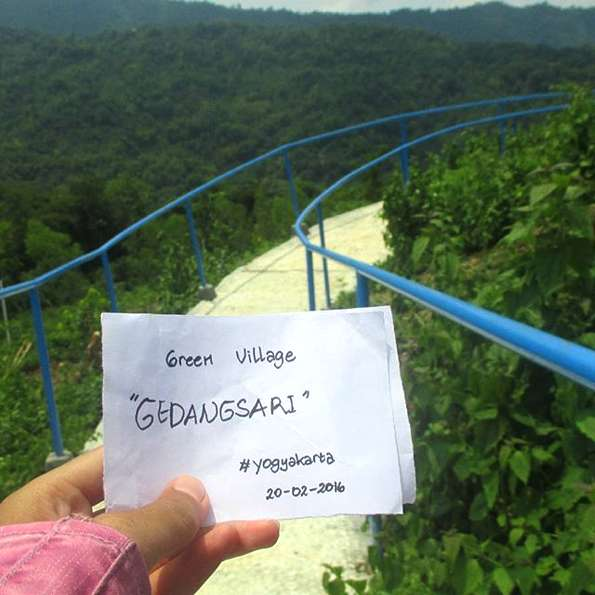 Lokasi Rute Wisata Green Village Gedangsari Yogyakarta Tangga Vilage Gunungkidul