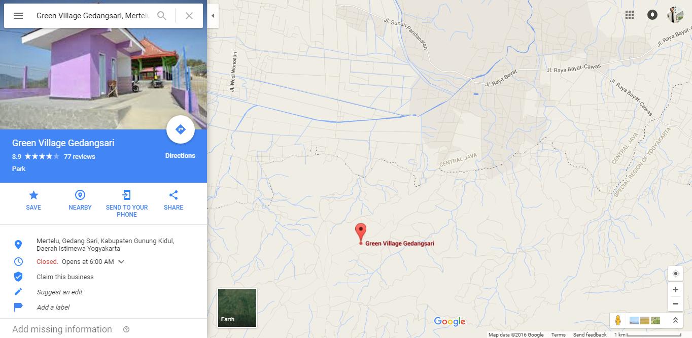 Wisata Jogja Green Village Gedangsari Pesona Indah Terletak Dusun Guyangan
