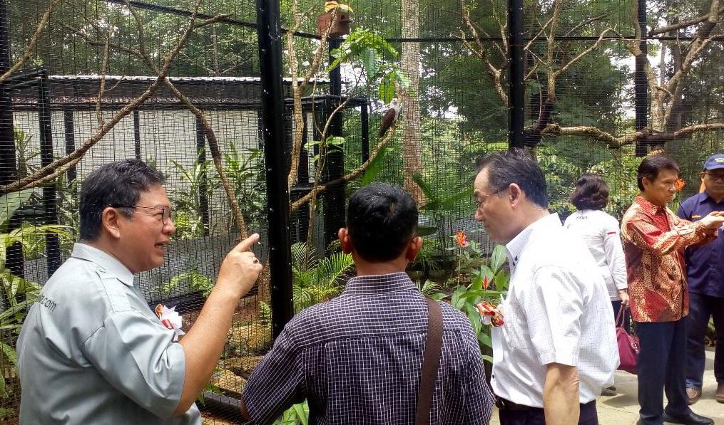Dome Burung Lengkapi Wanagama Gunungkidul Hutan Kab