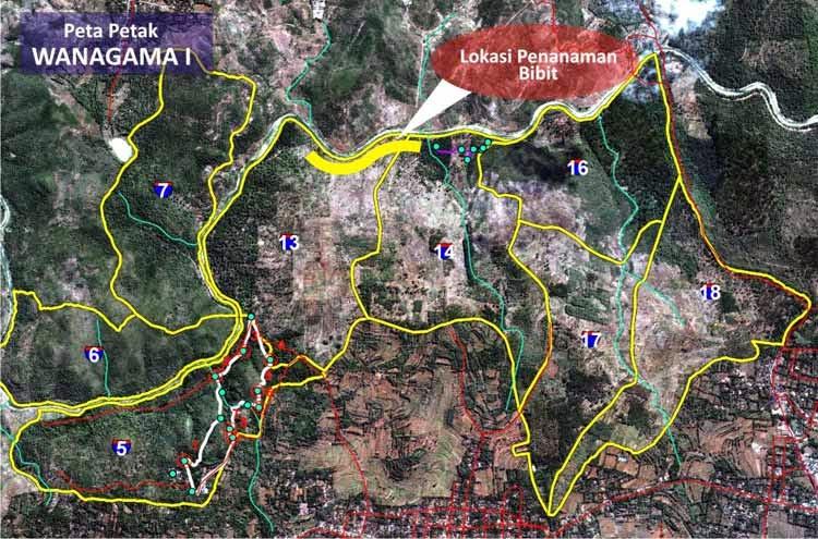 Lokasi Tempat Wisata Jogja Sekitarnya Hutan Wanagama Peta Kab Gunungkidul